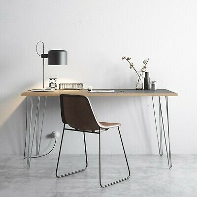 Grey Top Chrome Legs - Scandinavian Style - DESK  150cm X 75cm • 249£