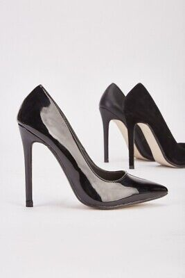 Ladies Womens High Stiletto Heel Pumps Work Smart Party Pointed Court Shoes Size • 13.99£