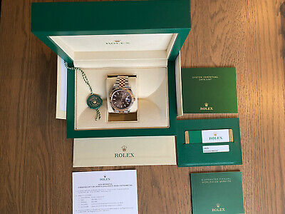 $ CDN19500 • Buy Rolex Datejust 41 Rose Gold & Steel New Box Paper Tag AD December 2019 126331