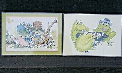 2 Art Prints-One By Mercer Mayer-Serenading & Poker Playing Frogs-3D Box Frames • 8.58£