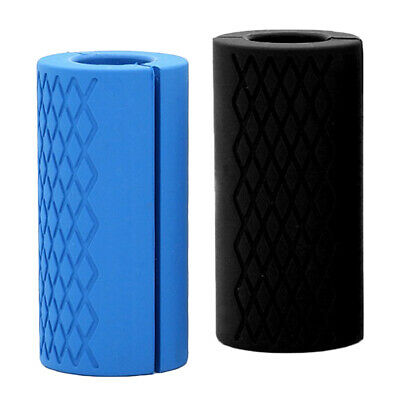AU21 • Buy 2 Pieces Thick Fat Silicone Barbell Grips Home Gym Arm Hand Turns