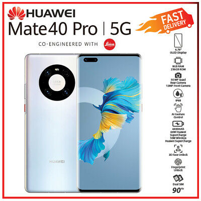 AU1549 • Buy (Unlocked) Huawei Mate 40 Pro 5G Silver 8GB+256GB Dual SIM Android Mobile Phone