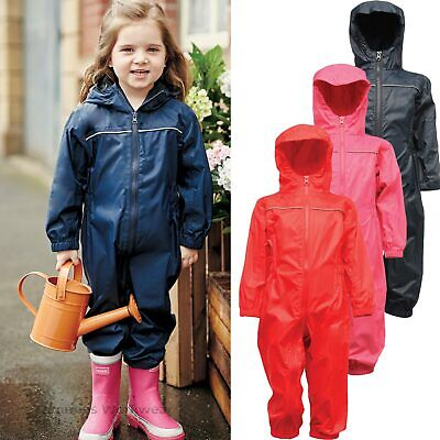 Kids Waterproof Puddle Suit Rainsuit Junior All In One Breathable Baby Toddler • 20.29£