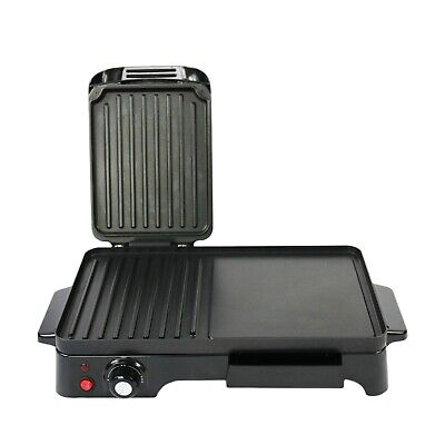 £44.99 • Buy Schallen Black Electric 2in1 Grill Griddle &Hot Plate Cooking Grilling Machine