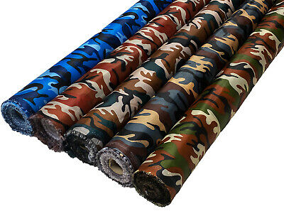 £3.89 • Buy Waterproof Camo Ripstop Fabric Material Rip Stop 4oz Army Camouflage Nylon Look