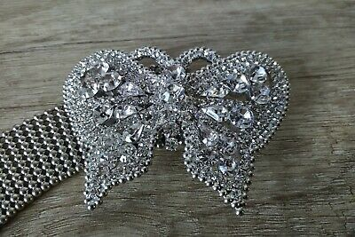 Butterly Crystal Buckle Expanpadble Belt Superb Quality Stunning Accessory • 21£