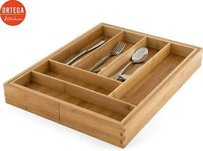 AU24.99 • Buy Expandable Bamboo Cutlery Tray Utensil Drawer - Kitchen Insert Divider & Holder