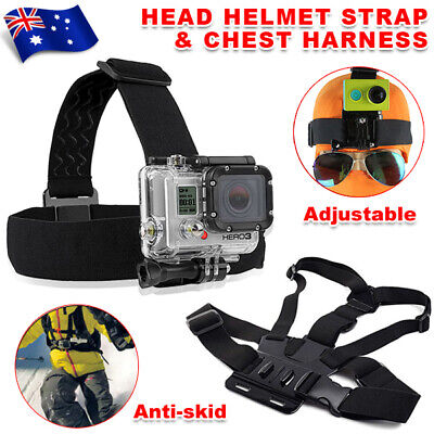 AU12.95 • Buy Chest Mount Harness Head Helmet Strap Accessories For GoPro 3+ 4 5 6 7 8 Chesty