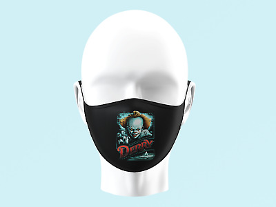 £5.99 • Buy Pennywise IT Clown Scary Legend Face Mask Kids Adults Washable Protective 0083