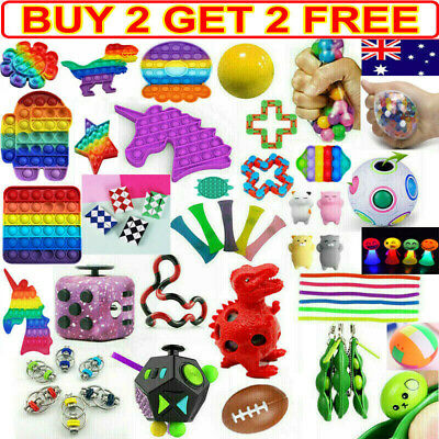 AU10.02 • Buy Pop Its Fidget Toys Sensory Tools Bundle Stress Relief Hand Kids Adults ADHD Toy
