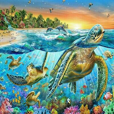 AU16.99 • Buy Turtle DIY 5D Full Drill Diamond Painting Embroidery Cross Stitch Kits Art Gifts