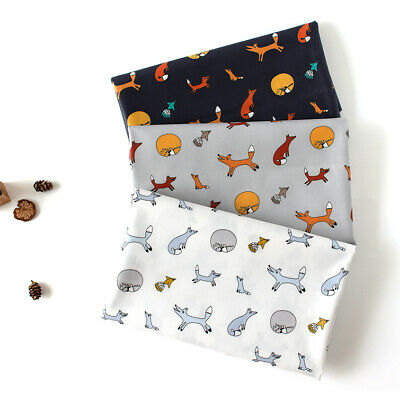 Laminated Cotton Fabric By The Yard Animal Fabric 44  Wide CM Fox Village  • 8.68£