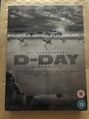 D-Day Remembered (8 Classic War Films) DVD Boxset. Brand New & Sealed. • 0.99£