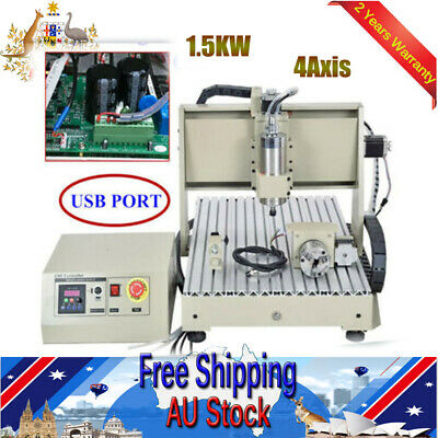 AU1708.02 • Buy USB 6040 4Axis CNC Router Carving Drill Mill Engraver Machine Water-cooling New