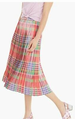 AU30 • Buy J Crew Pleated Midi Skirt In Shimmering Plaid Size 0 US