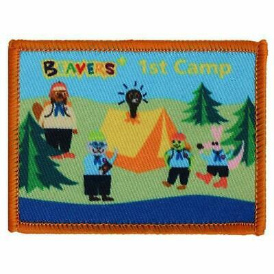 £2.50 • Buy 1st Camp Badge Woven Beaver Scout (Rectangle)