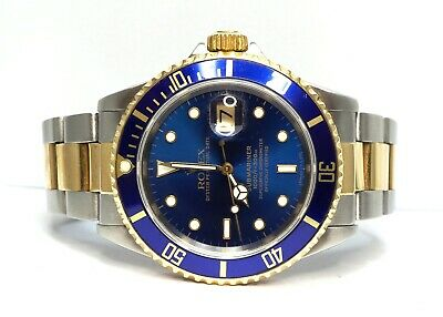 ROLEX Submariner 16613 1995 Steel & Yellow Gold Blue Dial/Bezel Boxed • 7,495£