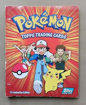 Pokemon Topps Complete Series 1 (90 Card Set) + Series 2  (72 Card Set) & Binder • 36£