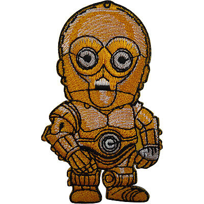 C3PO Star Wars Patch Embroidered Badge Iron Sew On Clothes Bag Shirt Fancy Dress • 2.79£