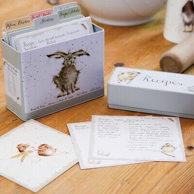 Recipe Tin With Cards Storage Box Organiser Country Animal Wrendale Designs • 17.95£