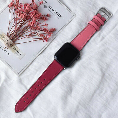 $ CDN5.02 • Buy Leather Apple Watch Band For IWatch Series SE 6 5 4 3 2 1 38mm 40mm 42mm 44mm