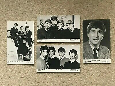The Beatles And John Lennon Collector-pop Series Real Photo Postcards Unused • 3£