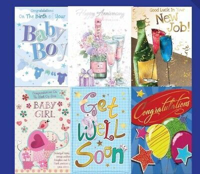 20 Multi-Pack Occasion Greeting Cards, New Home, Get Well Soon, Sympathy & More • 12.99£