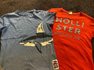 Boys Surfing Tshirts Hollister & Fat Face Age 11 12 13 • 1£
