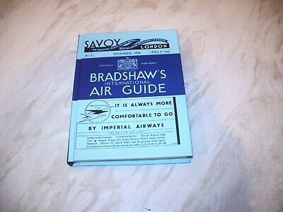 Bradshaw's International Air Guide 1934 Facsimile Lovely Condition Hardback • 12.99£