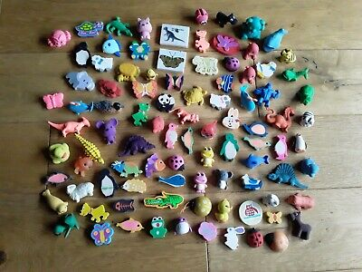 Large Collection Of Novelty Erasers Rubbers Animals Dinosaurs  • 2£