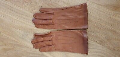 Dents Leather Gloves Women's - Brown, Size 7 • 5£