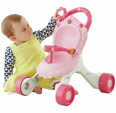£30 • Buy Fisher-Price Princess Stroll-Along Musical Baby Walker