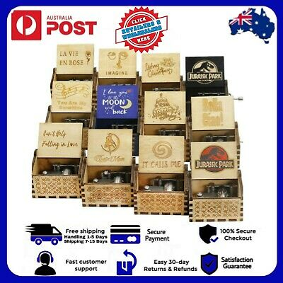 AU16.59 • Buy 37 Styles Retro Wooden Classical Music Box Toys Valentines Day Gift Birthday AUS
