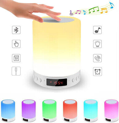 AU25.98 • Buy Bluetooth Speaker Lamp, Touch Sensor Night Light With Alarm Clock FM 7 Color