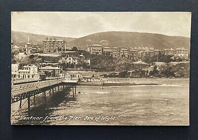 1928 Isle Of Wight Ventnor From The Pier Vintage Frith Postcard Ryde Postmark • 1.60£