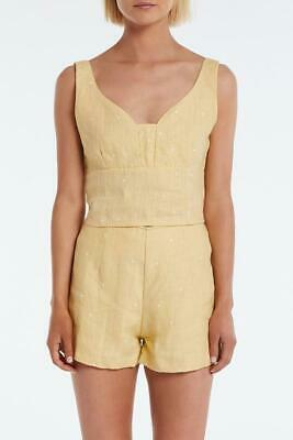 AU20 • Buy Zulu And Zephyr Curve Linen Top Yellow Size 10