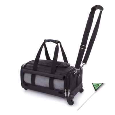 SHERPA Pet Carrier Ultimate On Wheels Black Travel Airline Safety Cat Dog • 117.84£