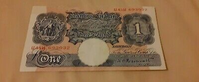 Bank Of England Blue  One Pound Note • 4.70£