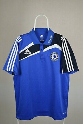 CHELSEA LONDON POLO Shirt Jersey ADIDAS 2009-2010 /The Blues Adult SIZE L • 22£