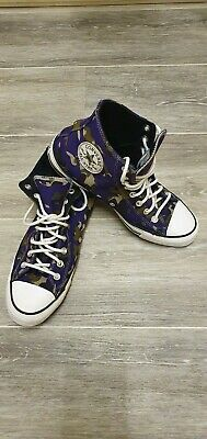 Converse Mens Womens Trainers Chuck Taylor All Star Purple Camouflage UK8.5 • 9.99£