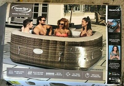Cleverspa® New Hampshire 6 Person Inflatable Hot Tub With Cleverlink® • 220£
