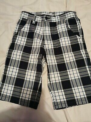 Boys Checked Shorts From Dunnes, Age 9-10 Years, Pockets, Holiday • 2£
