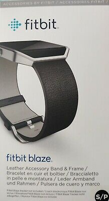$ CDN20.14 • Buy Fitbit Blaze Accessory Replacement Leather Wrist Band & Frame S/P  Black Silver