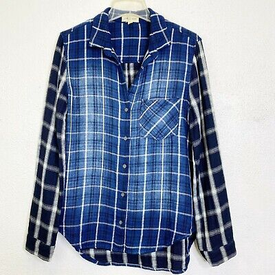 $ CDN42.03 • Buy Anthropologie Plaid Long Sleeve Top Size L