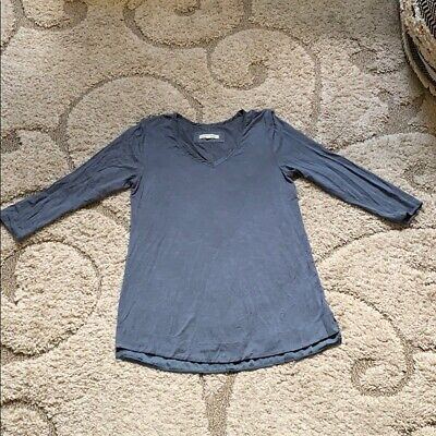 $ CDN6.31 • Buy Small Anthropologie Pure Good Blue 3/4 Sleeve Top