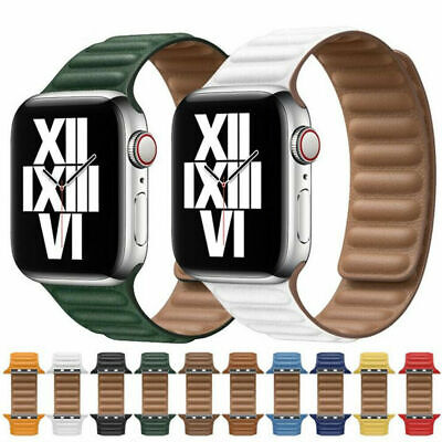 $ CDN13.91 • Buy Magnetic Leather Link Bracelet IWatch Strap For Apple Watch Band Series 6 SE 5 4