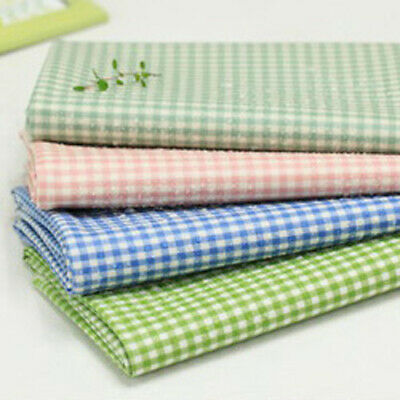 Laminated Cotton Fabric By The Yard Check Fabric 44  Wide CM Under Check  • 10.85£