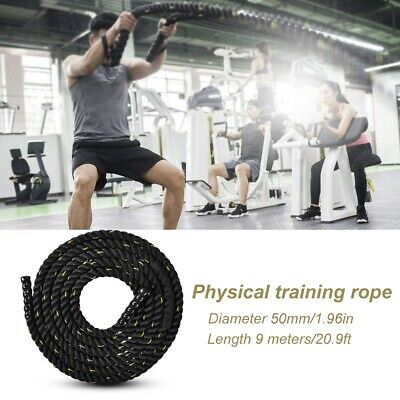 AU88.98 • Buy 9m *50mm Gym Battle Rope Power Strength Training Exercise Fitness Polyester