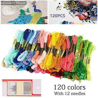 AU11.99 • Buy 120pcs/set DMC Cross Stitch Cotton Embroidery Thread Floss Sewing Skeins Craft