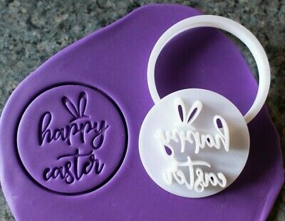 AU8.95 • Buy Happy Easter Cookie Fondant Embosser And Cutter, 3D Printed